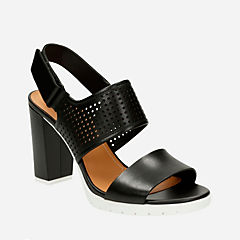 Pastina Malory Black Leather womens-sandals