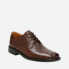 Unbizley Plain Dark Brown Leather mens-dress-casual-shoes