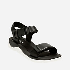 Caval Dixie Black Leather womens-sandals-sport