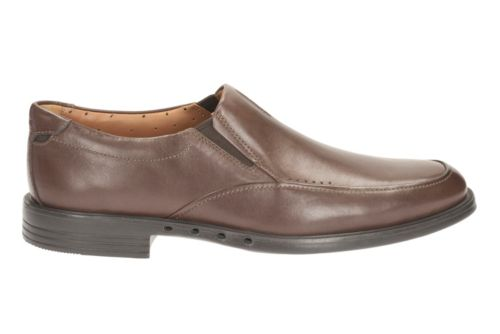 Unbizley Lane Dark Brown Lea mens-dress-casual-shoes