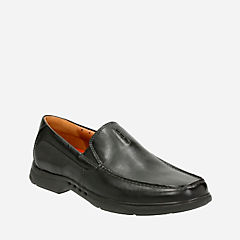 Uneasley Twin Black Leather mens-dress-casual-shoes