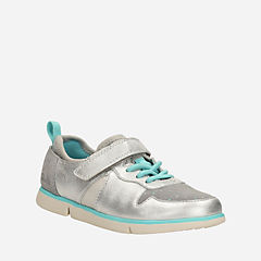 Tri Bessie Toddler Silver Leather girls-toddler