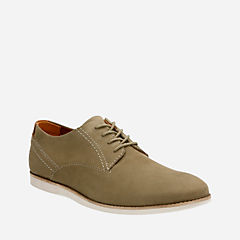 Franson Plain Olive Nubuck mens-dress-casual-shoes