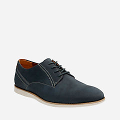 Franson Plain Blue Nubuck mens-dress-casual-shoes