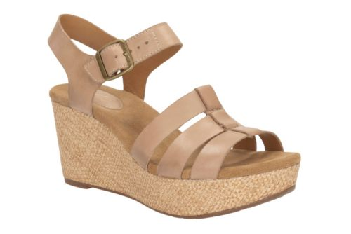 Caslynn Harp Sand Leather womens-sandals-wedge