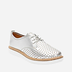 Glick Resseta Silver Leather womens-casual-shoes