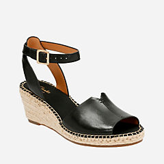 Petrina Selma Black Leather womens-sandals
