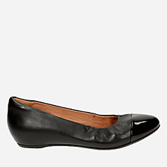 Alitay Susan Black Leather womens-wide-fit-flats