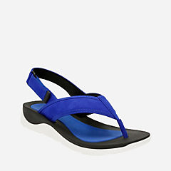 Caval Kora Electric Blue Nubuck womens-sandals
