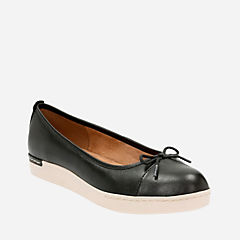 Cordella Alto Black Leather womens-flats