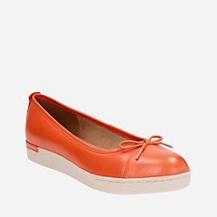 Cordella Alto Orange Leather womens-flats