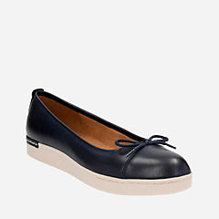 Cordella Alto Navy Leather womens-flats