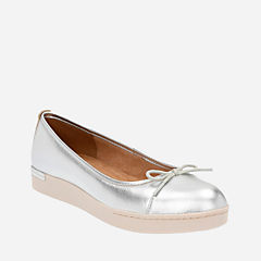 Cordella Alto Silver Leather womens-flats