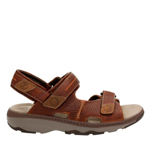 Raffe Coast Brown Tumbled Leather mens-sandals