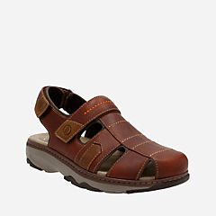 Raffe Bay Brown Leather mens-sandals-fisherman