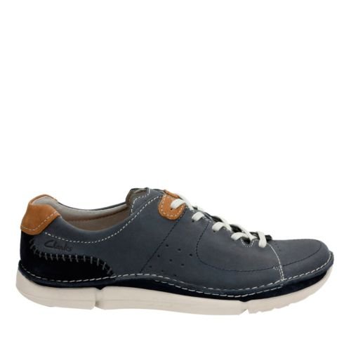 Trikeyon Mix Blue Leather mens-casual-shoes