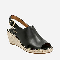 Petrina Mera Black Leather womens-sandals
