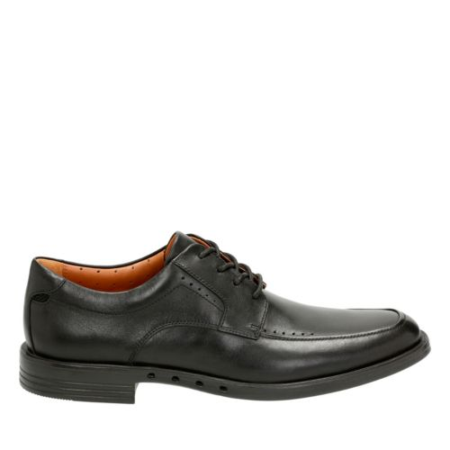 Unbizley View Black Leather mens-dress-casual-shoes