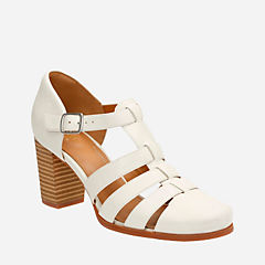 Ciera Gull Off White Lea womens-heels