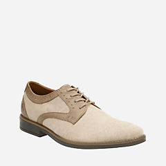 Garren Plain Sand leather/Sand Canvas mens-dress-casual-shoes