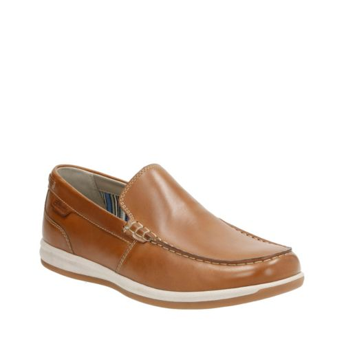Fallston Step Tan Leather mens-casual-shoes