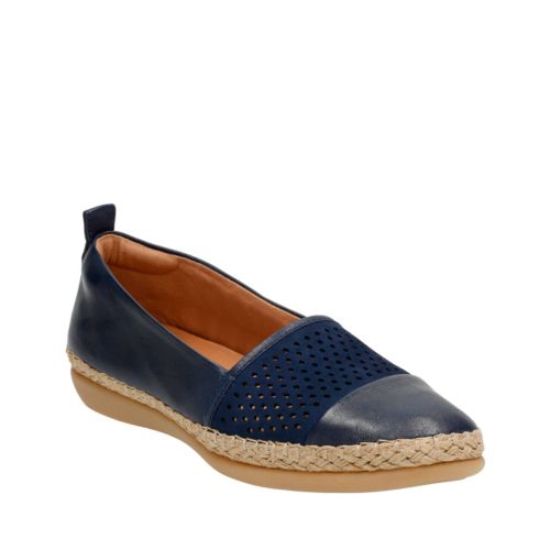 Reeney Helen Navy Leather womens-casual-shoes