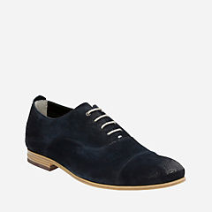 Chinley Cap Dark Blue Suede mens-oxfords-lace-ups