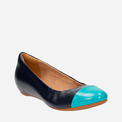 Alitay Susan Navy Leather womens-flats