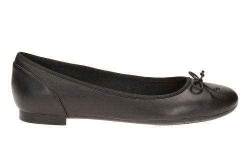 Couture Bloom Black Leather womens-ballet-flats
