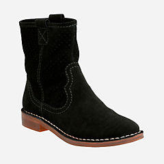 Cabaret Stage Black Suede womens-boots