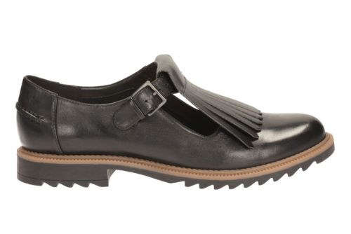 Griffin Mia Black Leather womens-casual-shoes