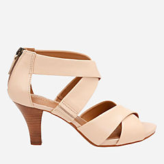 Florine Sashae Nude Leather womens-sandals-heels