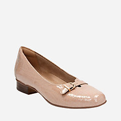 Keesha Raine Nude Croc Patent Leather womens-flats