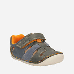 Tiny Artie Baby Grey Leather boys-view-all