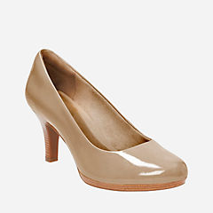 Tempt Appeal Sand Patent Leather womens-heels