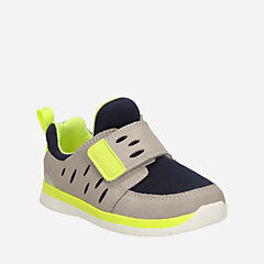Ath Leap First Grey Combi Lea boys-sneakers