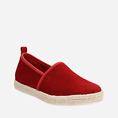Azella Revere Red Suede womens-casual-shoes