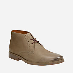 Garren Free Taupe Leather mens-low-boots
