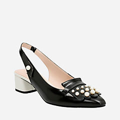 Swixties Sling Black Leather womens-heels