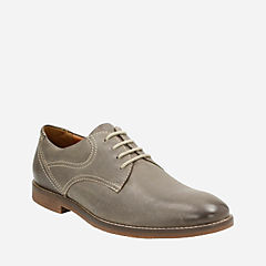 Verner Plain Slate Leather mens-dress-casual-shoes