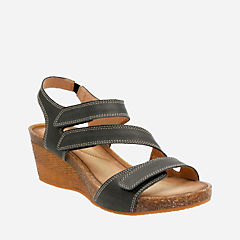 Hevely Ordo Black Leather womens-sandals