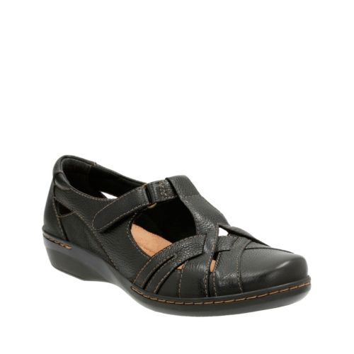 Evianna Doyle Black Leather womens-casual-shoes