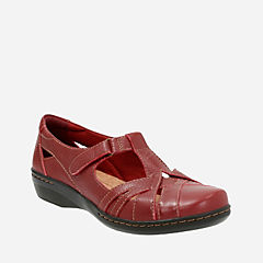 Evianna Doyle Red Leather womens-casual-shoes