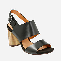 Banoy Tulia Black Leather womens-sandals