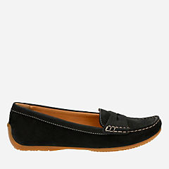 Doraville Nest Black Nubuck womens-wide-fit-flats