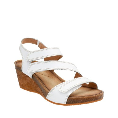 Hevely Ordo White Leather womens-sandals-wedge