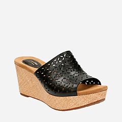 Caslynn Dylan Black Leather womens-sandals