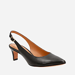 Crewso Riley Black Leather womens-heels