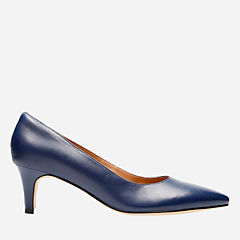 Crewso Wick Navy Leather womens-navy-shoes