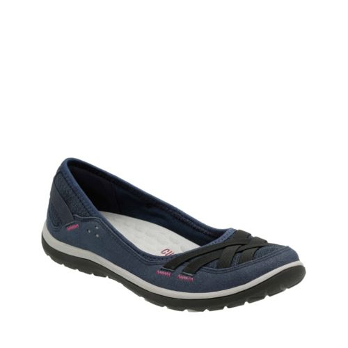 Aria Pump Navy Synthetic womens-wide-width